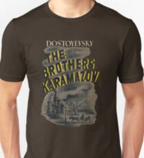 The Brothers Karamazov Fyodor Dostoevsky Book Cover Slim Fit T-Shirt