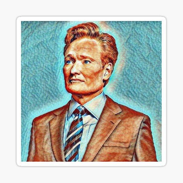 Conan O'Brien Van Gogh Art Design Sticker