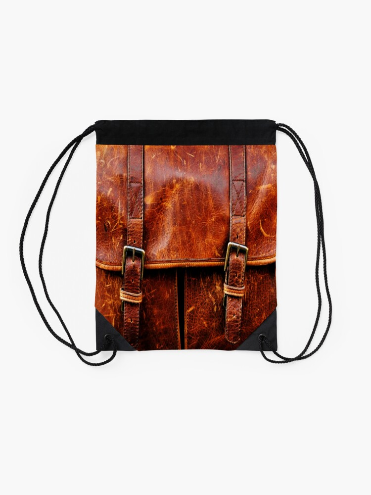 Alternate view of LEATHER Drawstring Bag