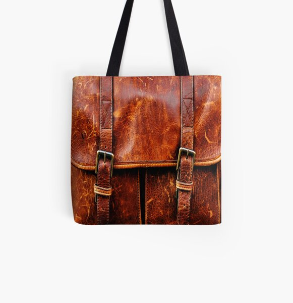 LEATHER All Over Print Tote Bag