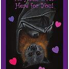 Valentine's Day Flying Fox by NyreeMason