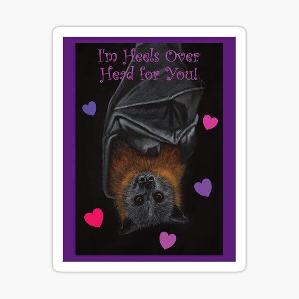 Valentine's Day Flying Fox Sticker