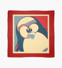 Linux Tux Obama poster red blue  Scarf