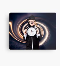 Space astronomer getting sucked into a black hole Metal Print