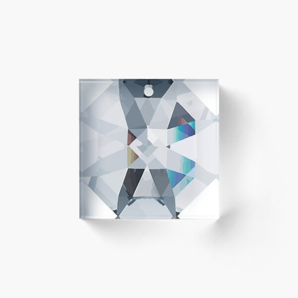 Octagonal Prism Crystal without rainbow Acrylic Block
