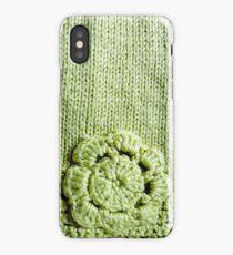 Green Crochet Flower #2 iPhone Case/Skin