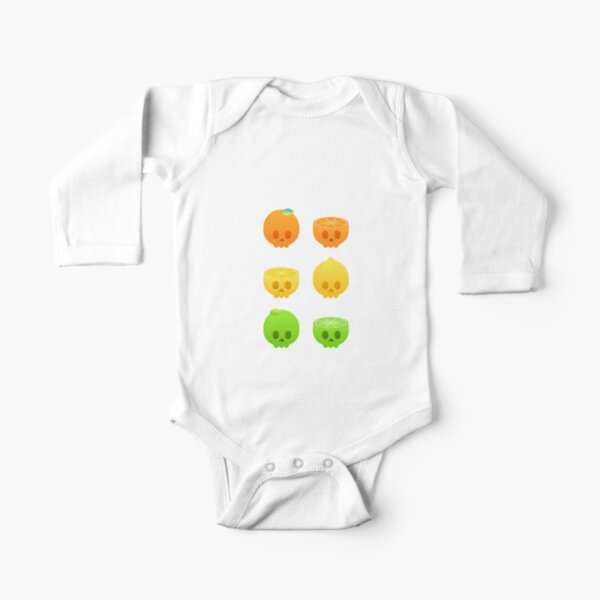 Citrus Skulls Long Sleeve Baby One-Piece