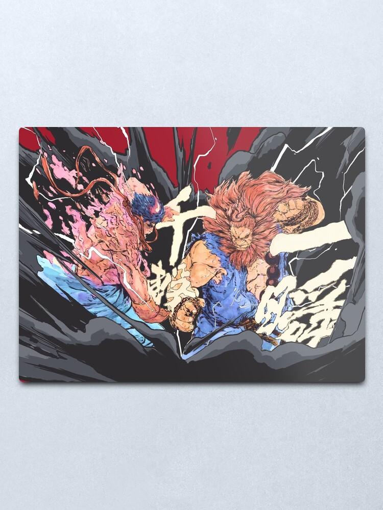 The Raging Demons Kage Evil Ryu Vs Akuma Street Fighter Metal Print