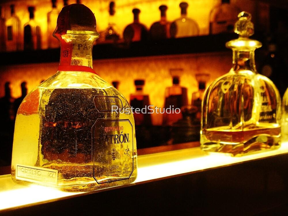 Bottle of Patron Tequila Reposado by RustedStudio