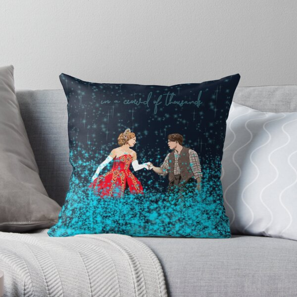 In a Crowd of Thousands Throw Pillow