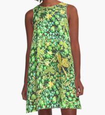 Irische St Patrick Tagesgrüne irische Perlen A-Linien Kleid