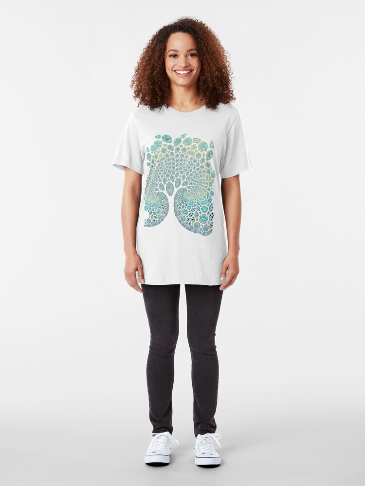 Alternate view of Fractured Tree 1 Slim Fit T-Shirt