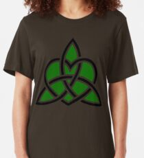 Celtic Valknut Trinity Knot With Interwoven Heart Slim Fit T-Shirt