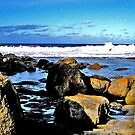 Surf, Rocks & Sky by marinar