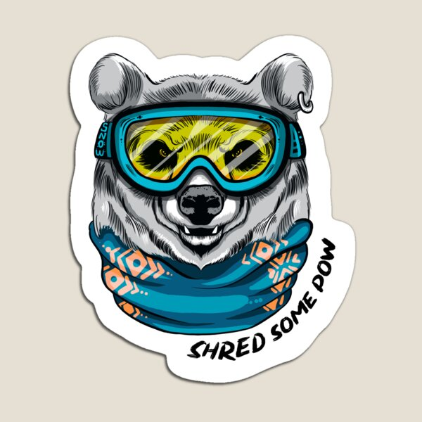 Shred the gnar Magnet