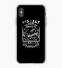 Vintage Old No 70 - 70th birthday gift iPhone Case