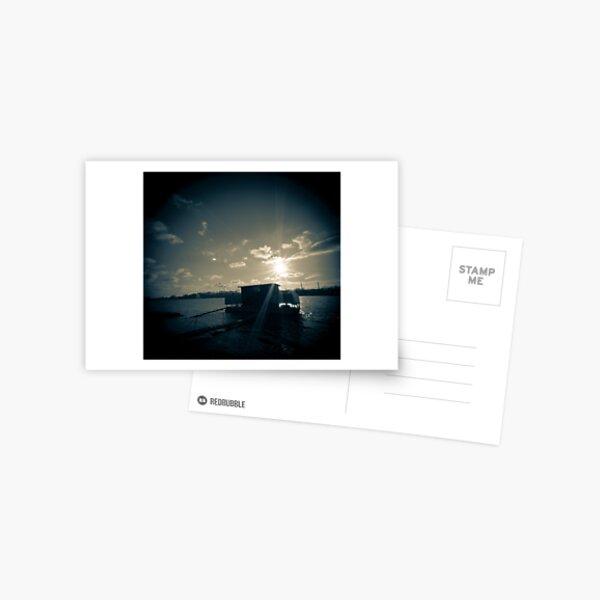 Boot an der Donau Postkarte