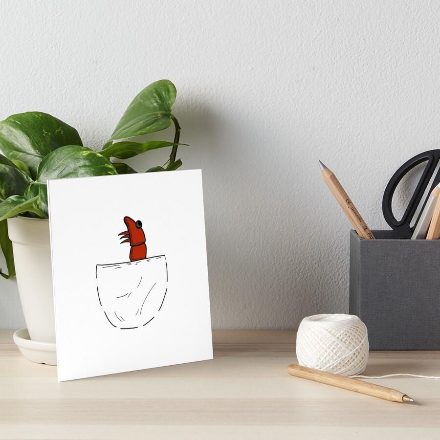 Der Shrimp in der Tasche Galeriedruck