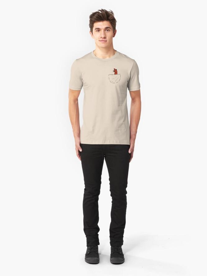 Alternative Ansicht von Der Shrimp in der Tasche Slim Fit T-Shirt