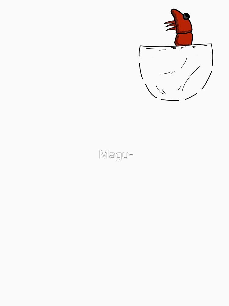 Der Shrimp in der Tasche von Magu-