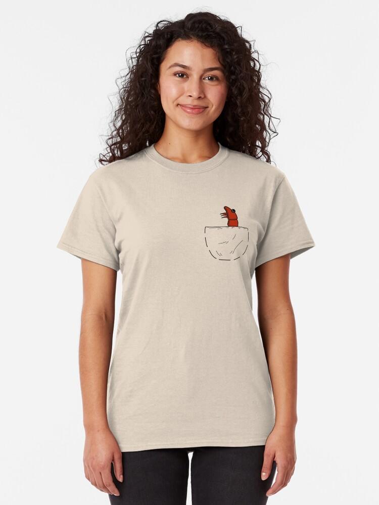 Alternative Ansicht von Der Shrimp in der Tasche Classic T-Shirt