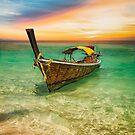 Longboat Sunset Thailand  by Adrian Evans