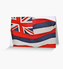 Hawaiian Flag Greeting Card