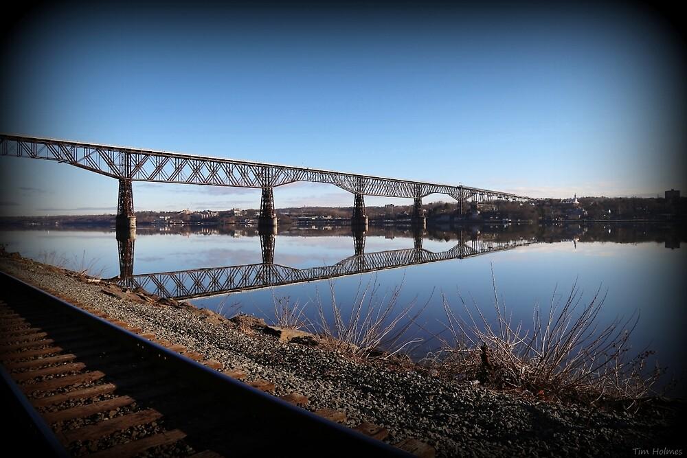 Hudson River Morning Span by Tim Holmes
