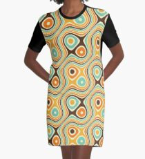 Retro psychedelic pattern Graphic T-Shirt Dress