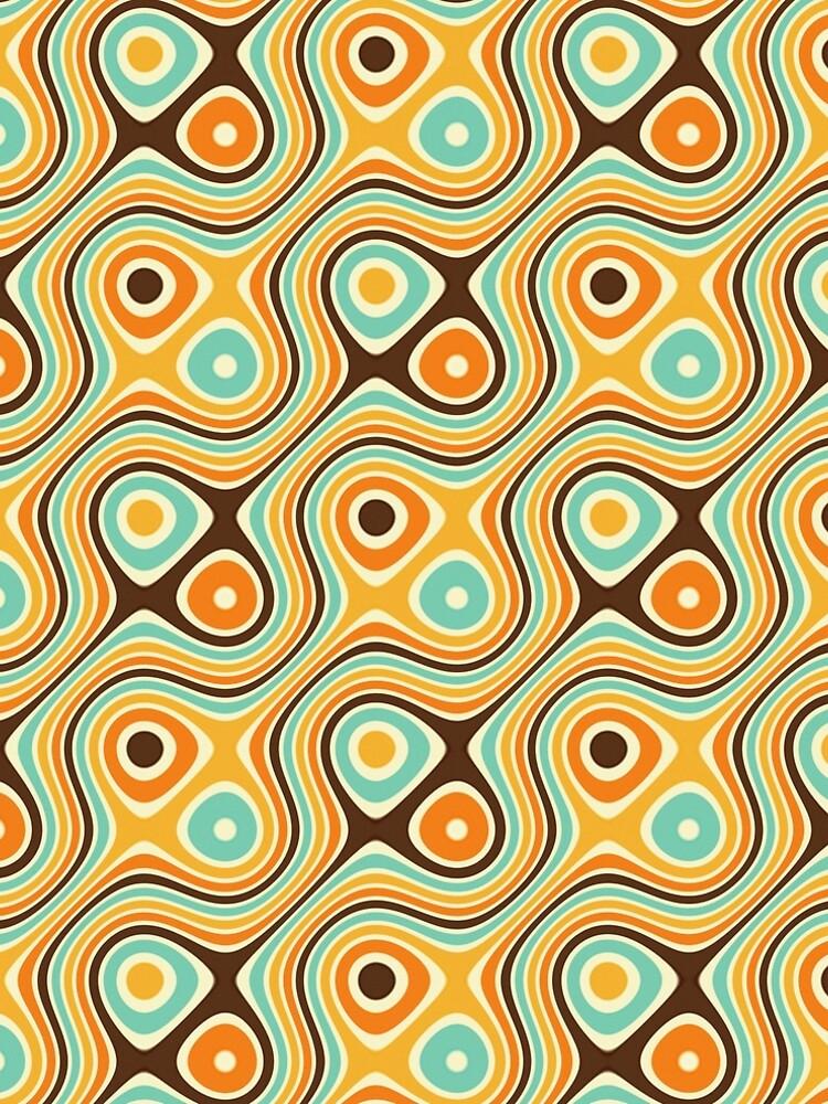 Retro psychedelic pattern by colorandpattern