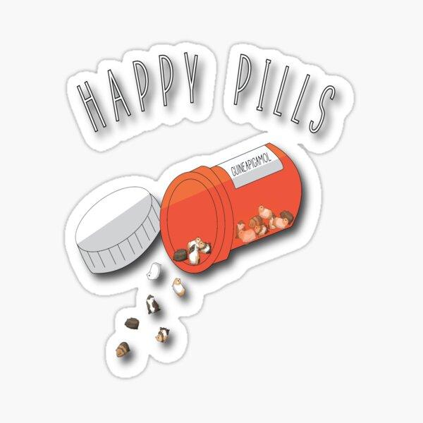 Guinea Pig Happy Pills Sticker