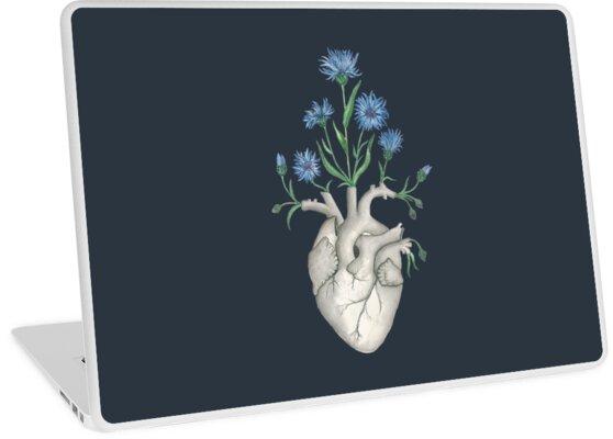 «Corazón Floral: Anatomía Humana Aciano Día de la Madre Regalo» de Ossuarium Floreus