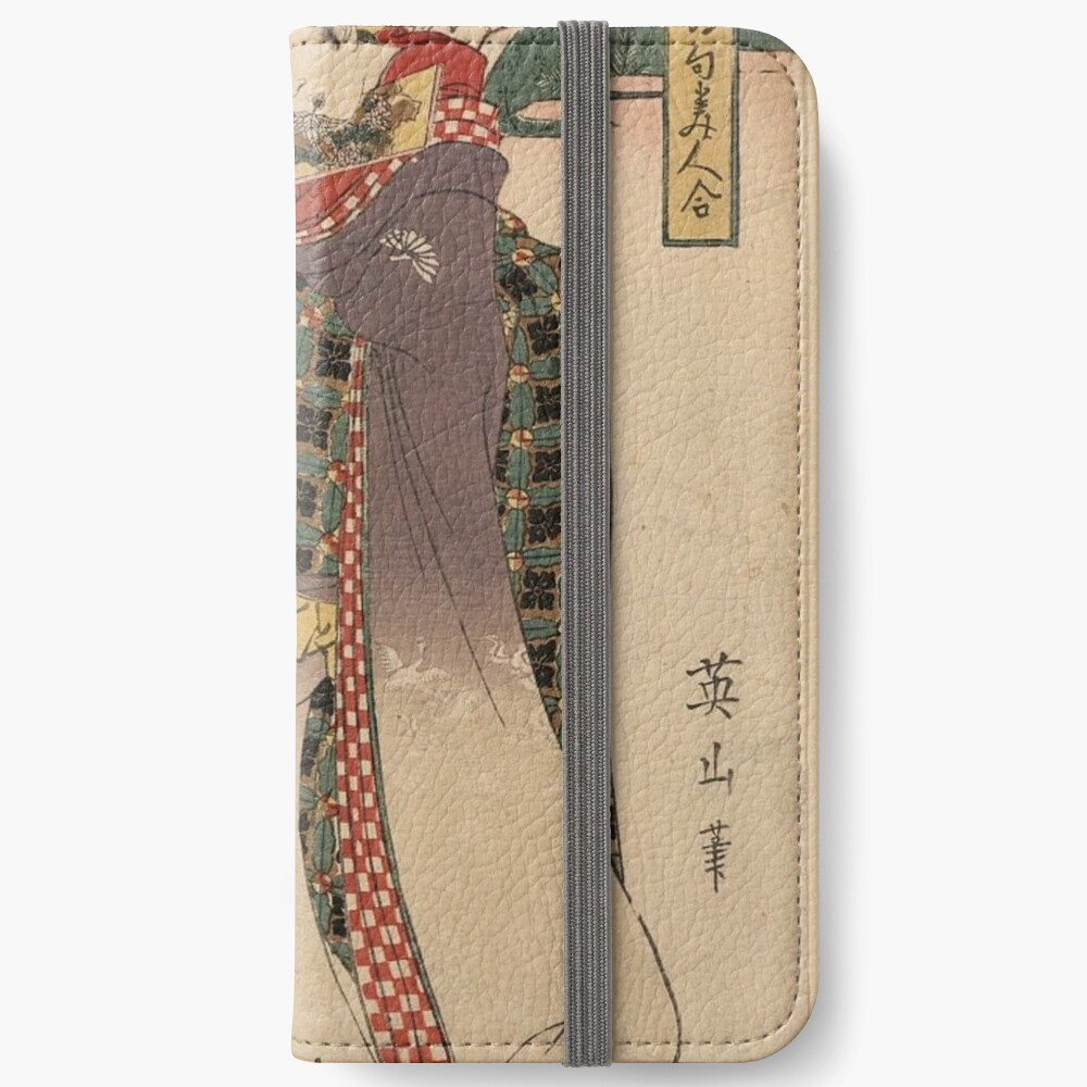 Japanese Art Scroll Geisha In The Garden Bored With Fellow Nobles Iphone Wallet By Nostalgic93 Redbubble