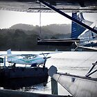Water Planes waiting on Macquarie Harbour by Kristi Robertson
