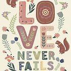 Die Liebe versagt nie 2019 (EICHHÖRNCHEN UND BLUMEN) von JW ARTS & CRAFTS