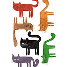 Happy colorful cats by idriera