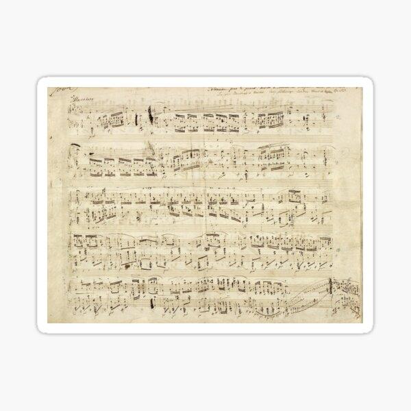 Vintage Chopin Music Notes Sticker
