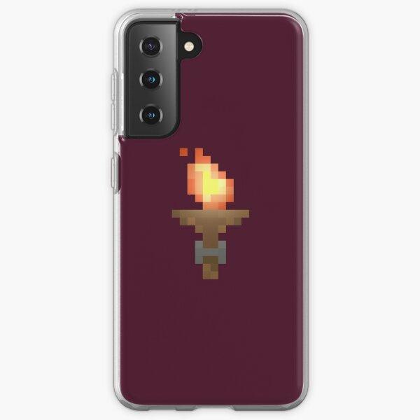 Pixel Art Dungeon Torch Samsung Galaxy Soft Case