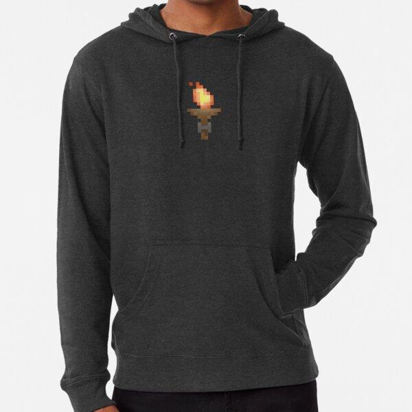 Pixel Art Dungeon Torch Lightweight Hoodie