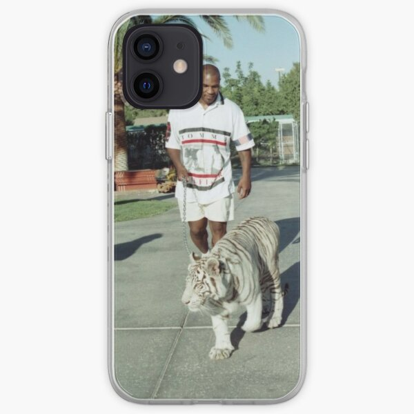 Mike Tyson walking his tiger on a lead iPhone Soft Case