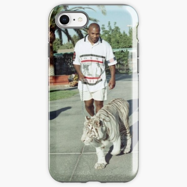 Mike Tyson walking his tiger on a lead iPhone Tough Case