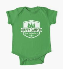 Happy Camper - Camping T Shirt One Piece - Short Sleeve