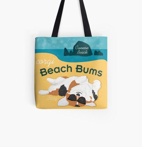 2019 Corgi Beach Bums  - Tri Color All Over Print Tote Bag