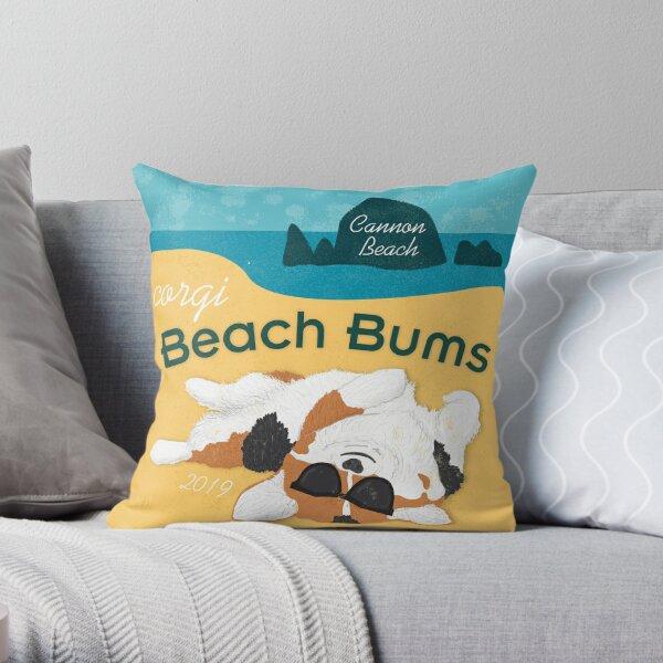 2019 Corgi Beach Bums  - Tri Color Throw Pillow