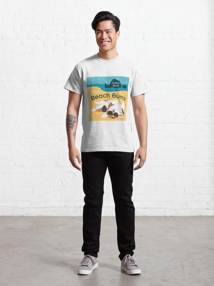 Alternate view of 2019 Corgi Beach Bums  - Tri Color Classic T-Shirt