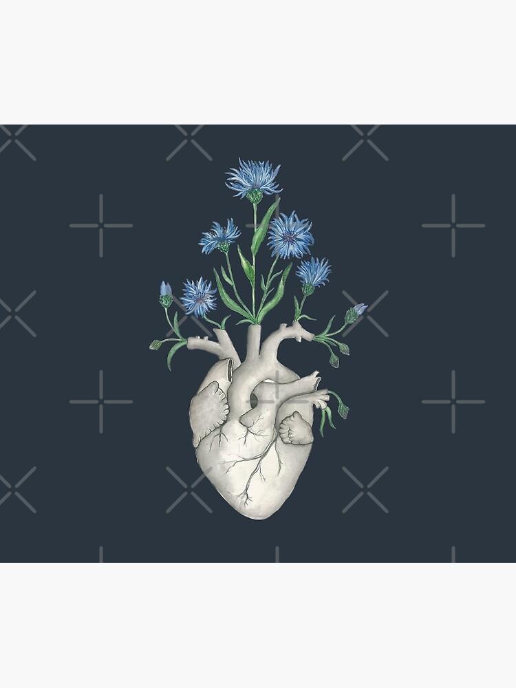 Floral Heart: Human Anatomy Cornflower Flower Summer Gift by osuariumfloreus