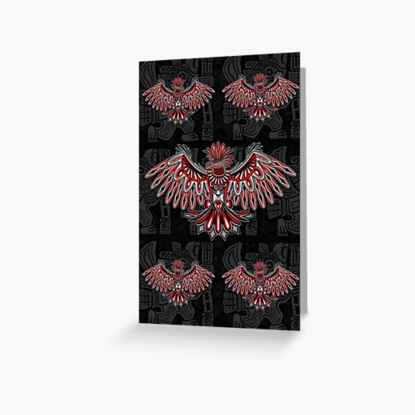 Eagle Tattoo Style Haida Art Greeting Card