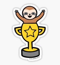 Baby Sloth in Winners Cup Sticker