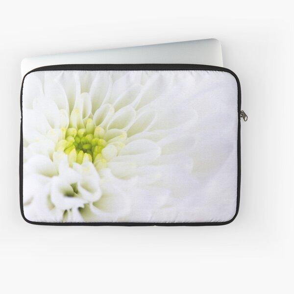 White Chrysanthemum Laptop Sleeve