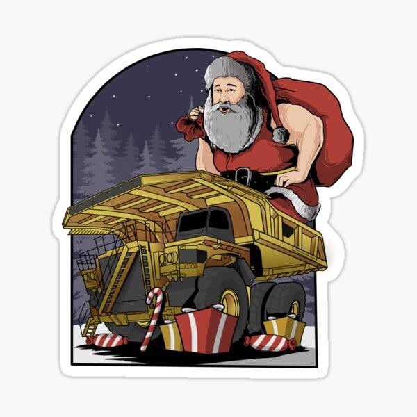 Dump Truck Xmas Sticker
